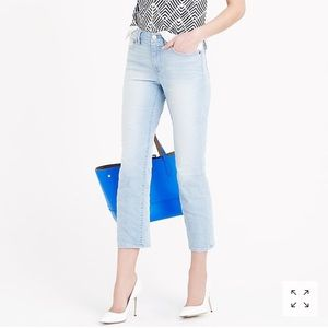 J. Crew Vintage cropped jean in parisi wash 28